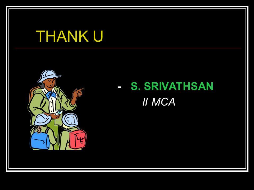 THANK U - S. SRIVATHSAN II MCA