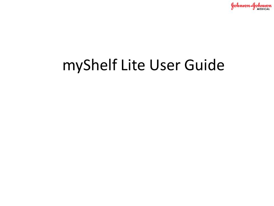 myShelf Lite User Guide