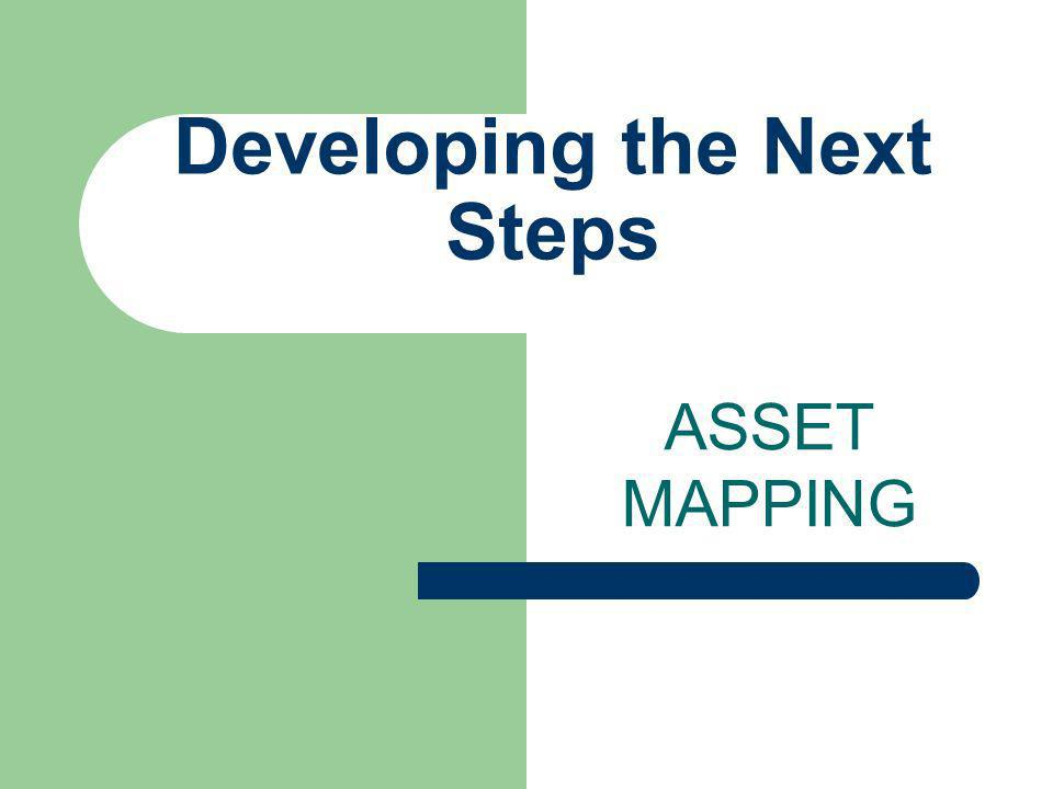 Developing the Next Steps ASSET MAPPING