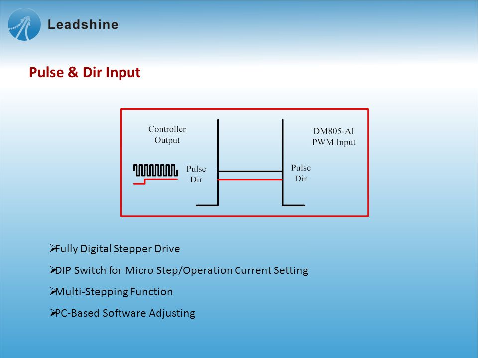 Fully Digital Stepper Drive DIP Switch for Micro Step/Operation Current Setting Multi-Stepping Function PC-Based Software Adjusting Pulse & Dir Input