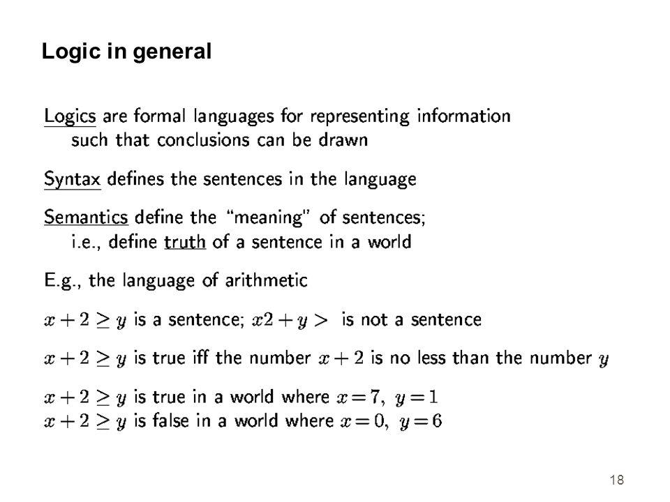 18 Logic in general