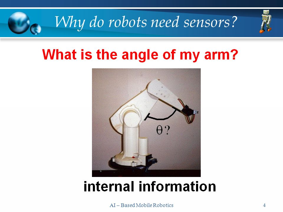 AI – Based Mobile Robotics4 Why do robots need sensors