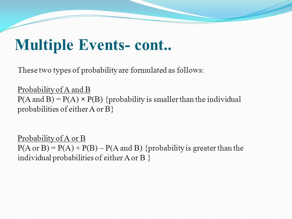 Multiple Events- cont..