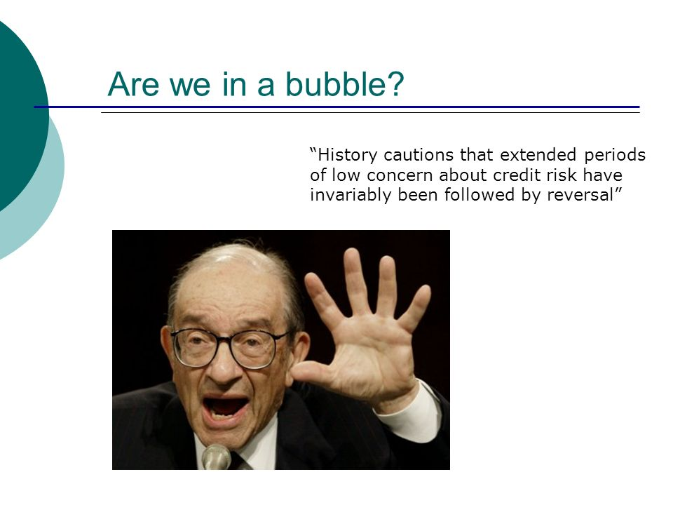 Are we in a bubble.