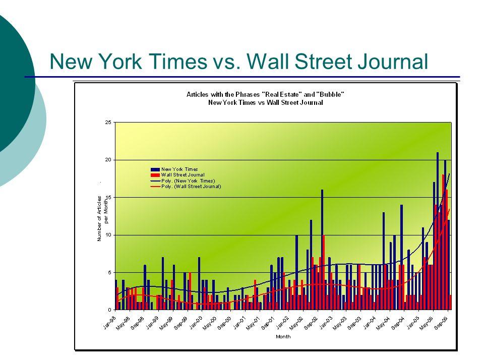 New York Times vs. Wall Street Journal