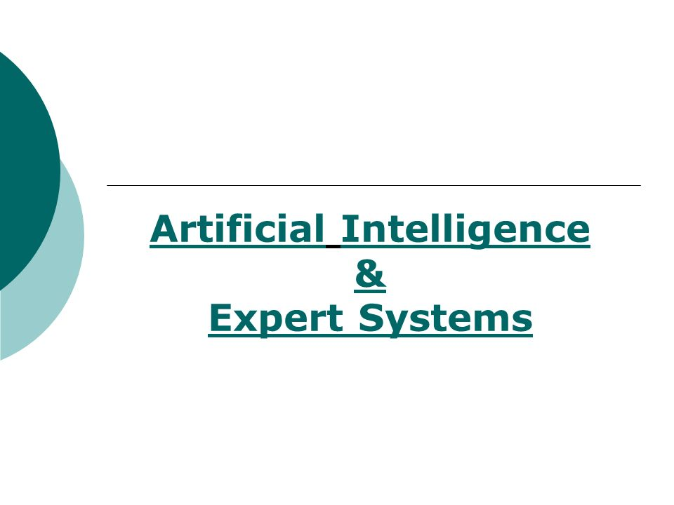 Artificial Intelligence & Expert Systems