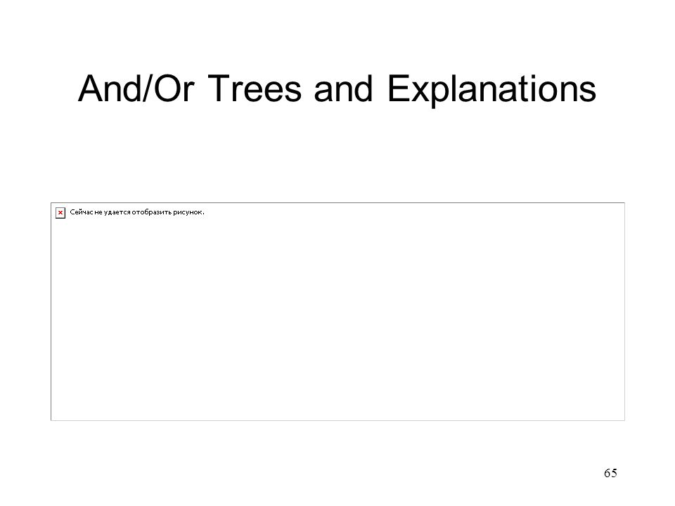 65 And/Or Trees and Explanations