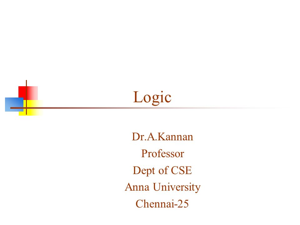 2 What is logic.