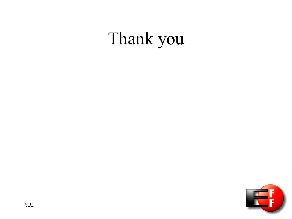 SRI Thank you
