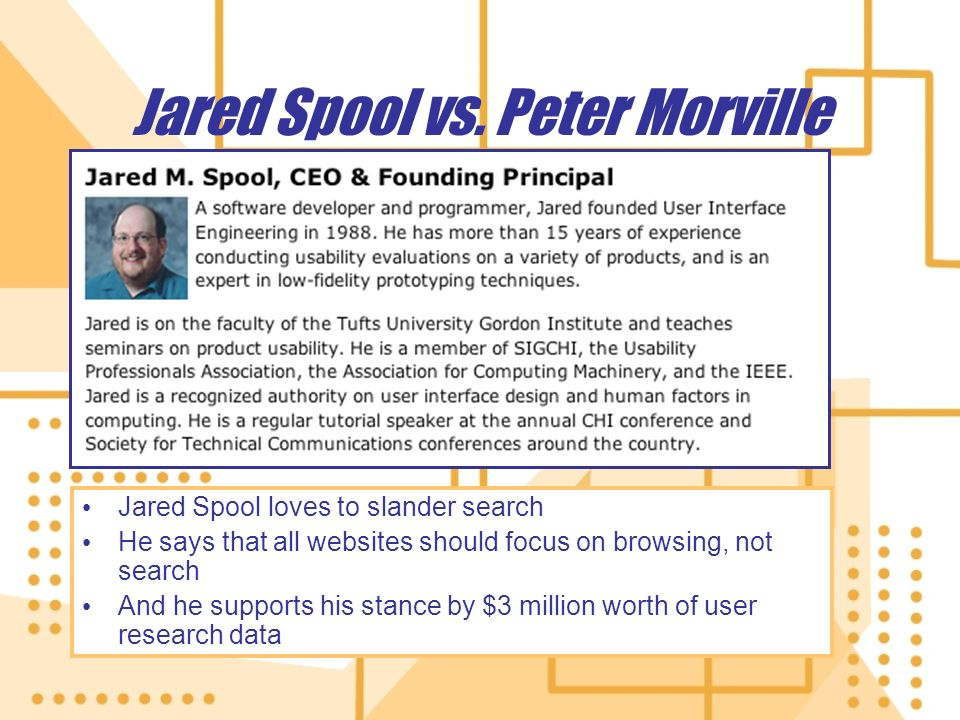 Jared Spool vs.