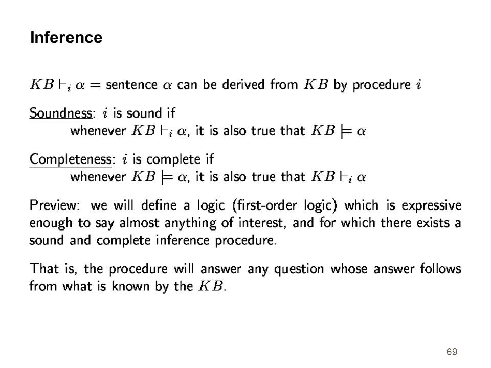 69 Inference