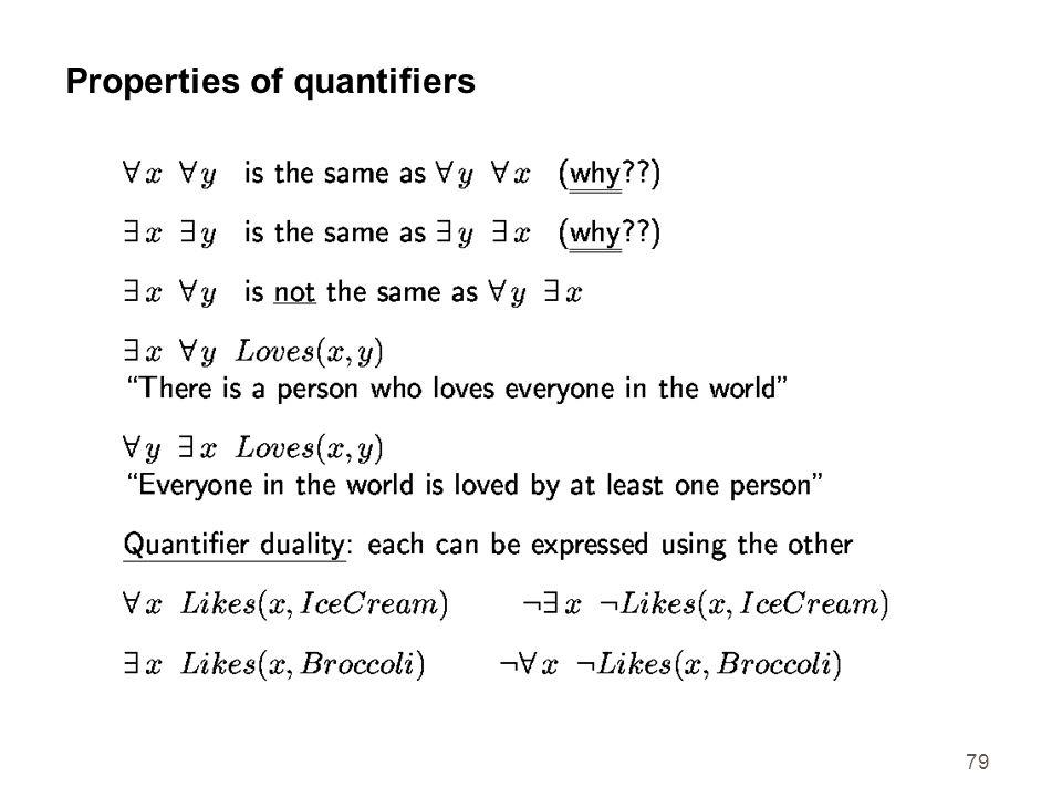 79 Properties of quantifiers