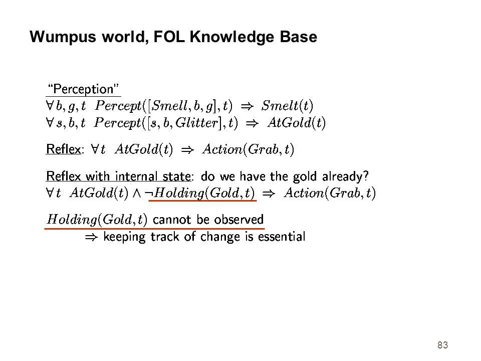 83 Wumpus world, FOL Knowledge Base
