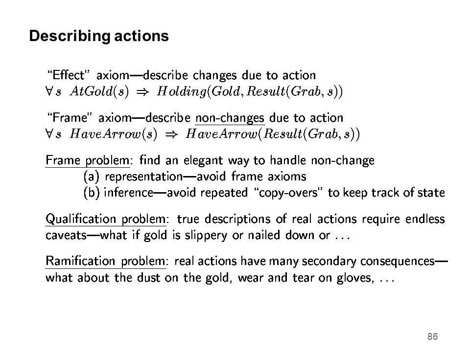 86 Describing actions