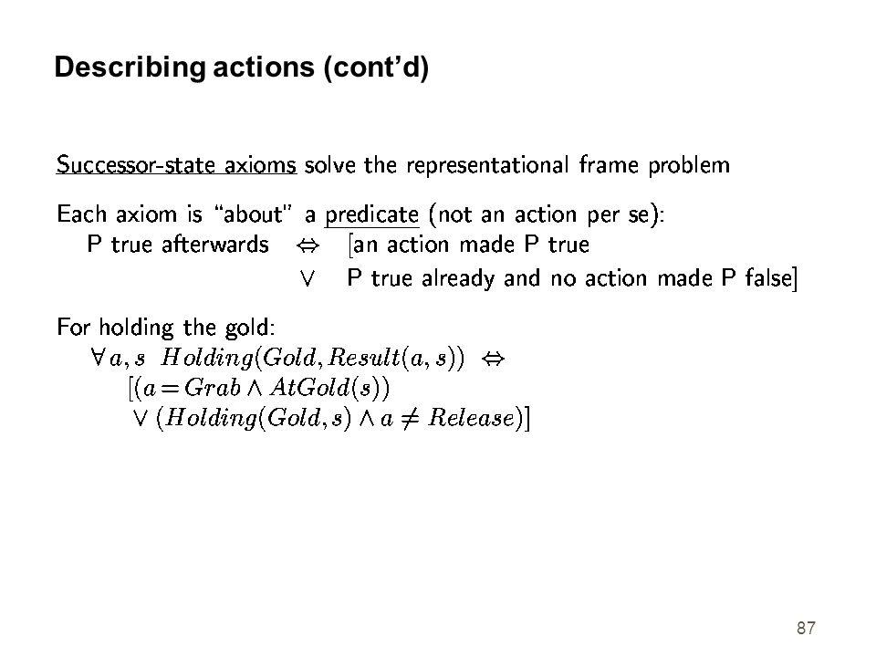 87 Describing actions (contd)