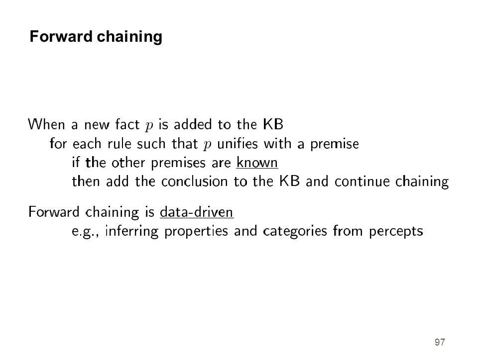 97 Forward chaining