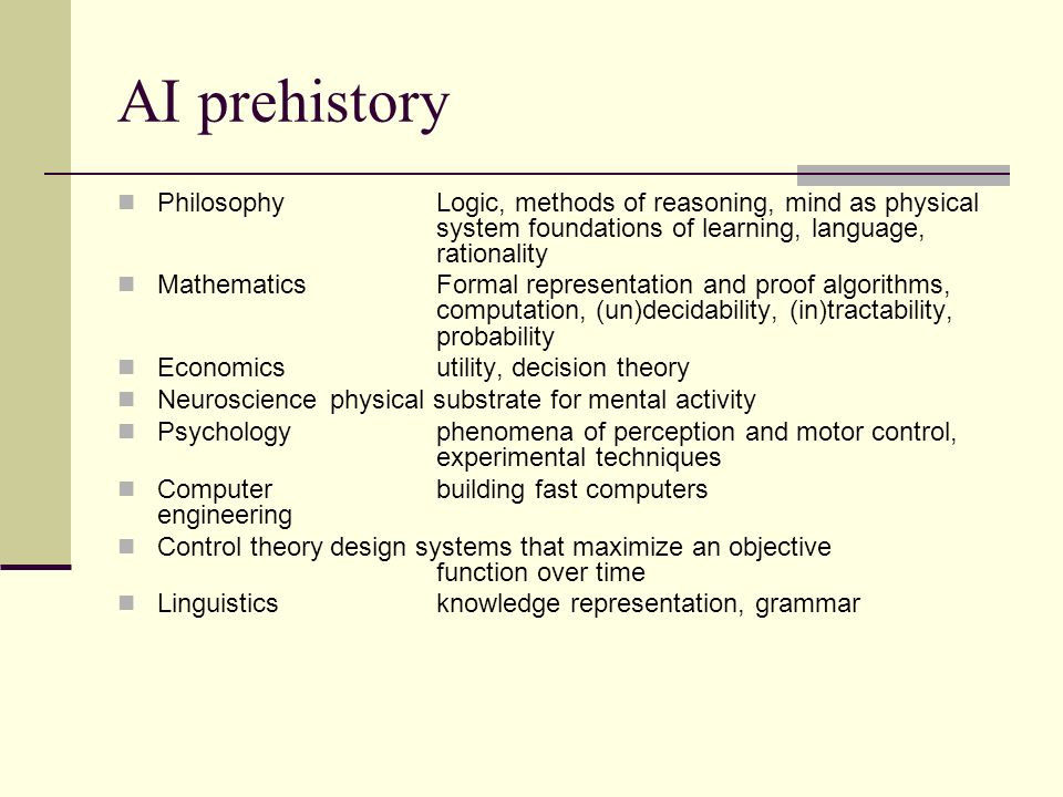 Abridged history of AI 1943 McCulloch & Pitts: Boolean circuit model of brain 1950 Turing s Computing Machinery and Intelligence 1956Dartmouth meeting: Artificial Intelligence adopted 195269Look, Ma, no hands.