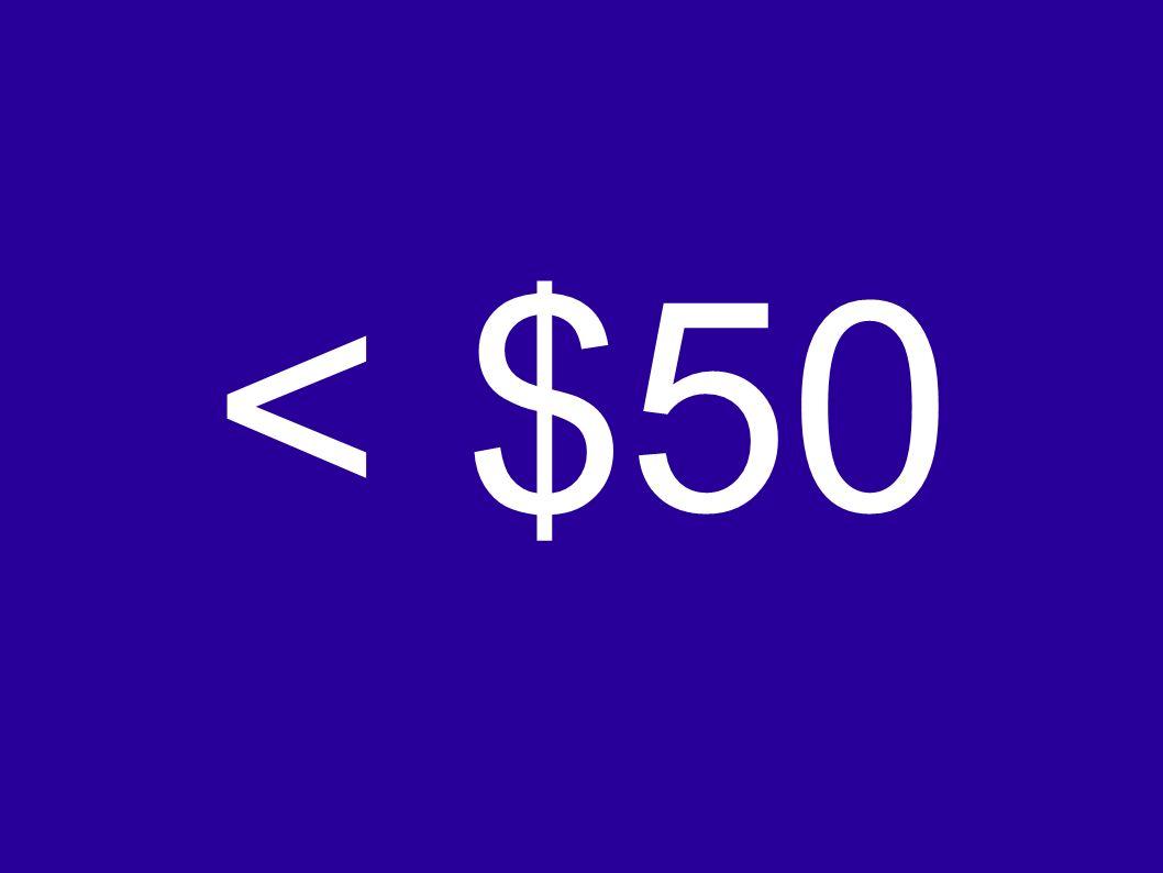 < $50
