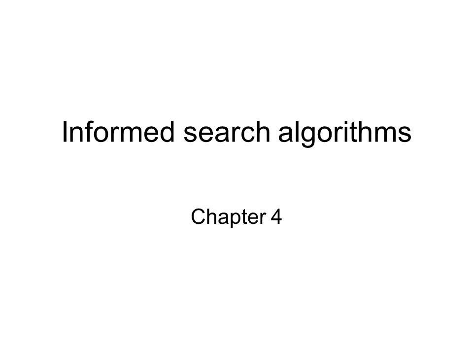 Material Chapter 4 Section 1 - 3 Exclude memory-bounded heuristic search