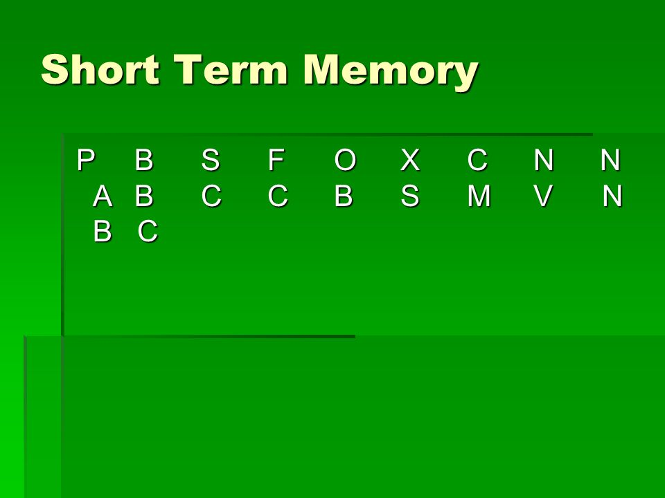 Short Term Memory PBSFOXCNN ABCCBSMV N B C PBSFOXCNN ABCCBSMV N B C