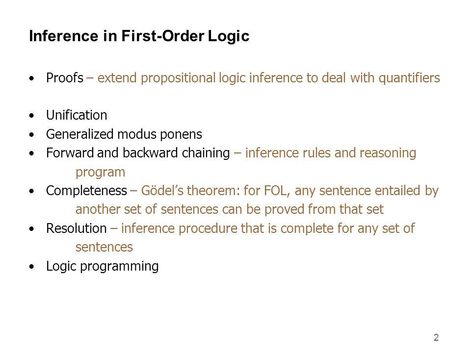 3 Remember: propositional logic