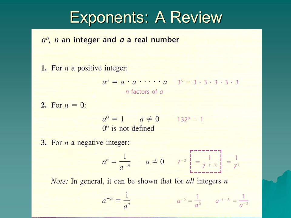 Exponents: A Review