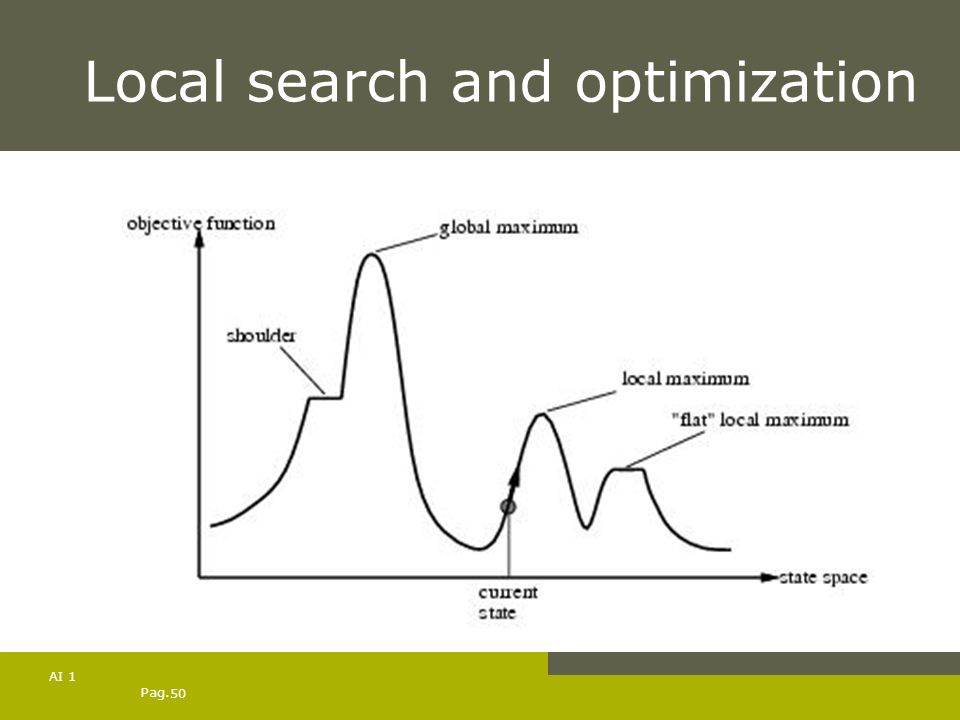 Pag. 50 AI 1 Local search and optimization