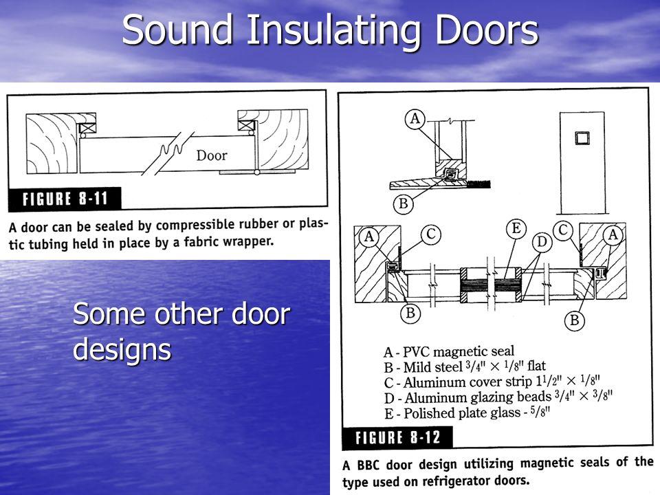 Sound Insulating Doors Some other door designs