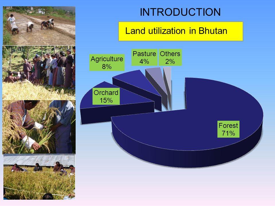 INTRODUCTION Land utilization in Bhutan