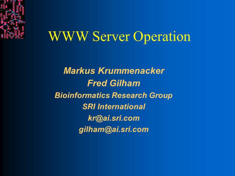 SRI International Bioinformatics WWW vs.