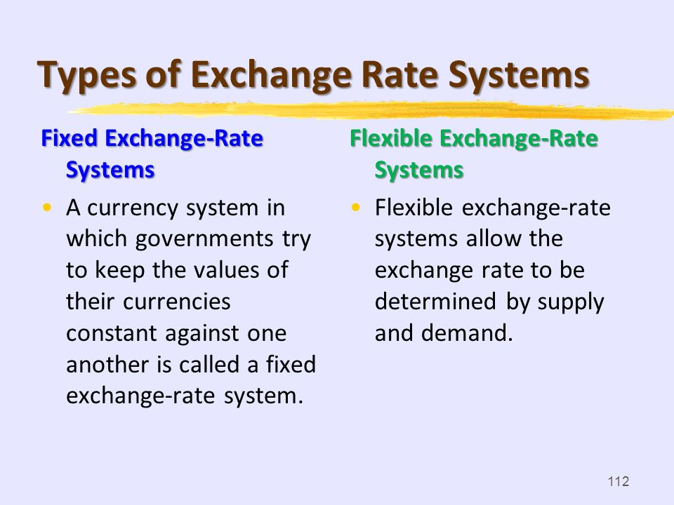 111 exchange rate The value of a foreign nations currency in relation to your own currency is called the exchange rate. Exchange Rates and Internation