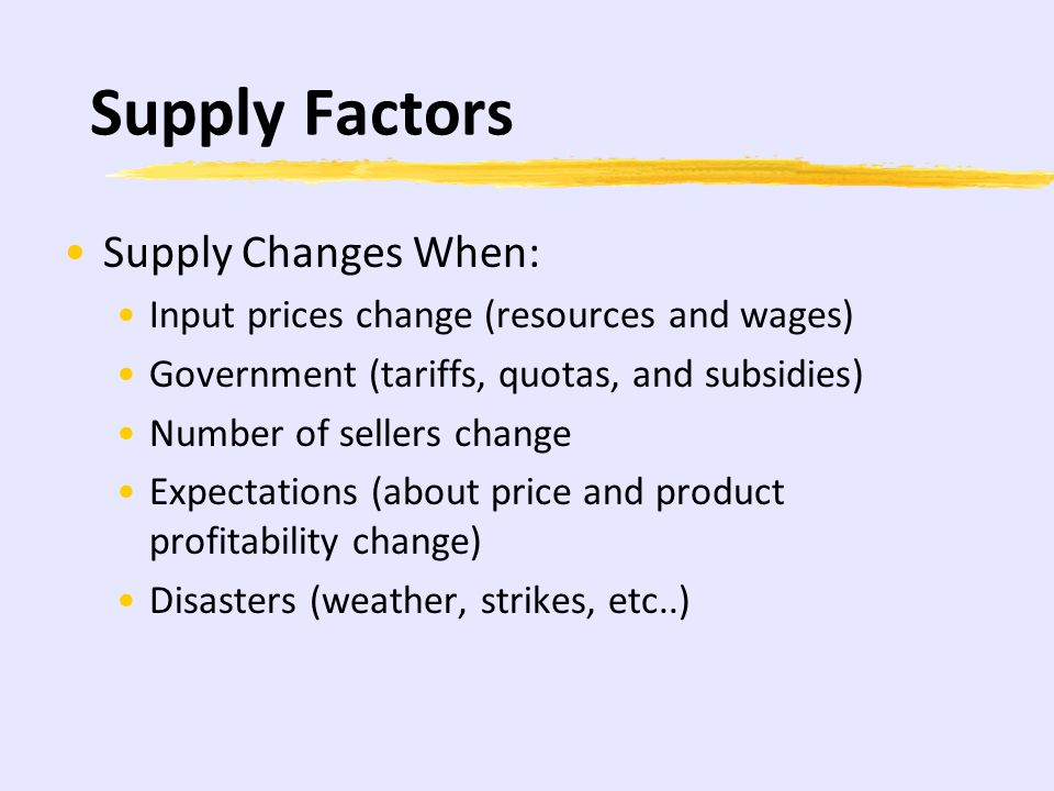 Demand Decrease: As Demand Decreases, Price and Quantity decrease as well D1 D2 S1 P1 P2 Q1Q2 Price Quantity