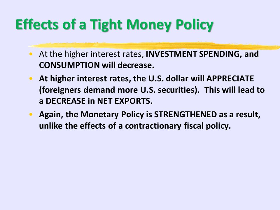 Tight Money Policy and AD/AS Selling bonds, raising the discount rate, or raising reserve requirements to fight inflation which will raise interest ra