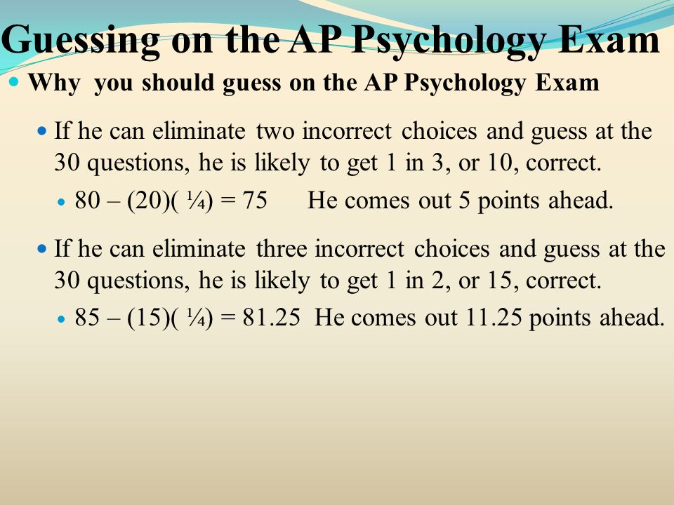 ap essay questions psychology