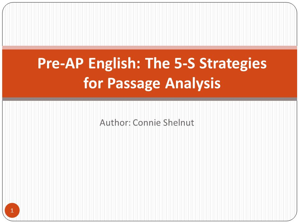 2 Why Pre-AP and the 5-S Strategies.