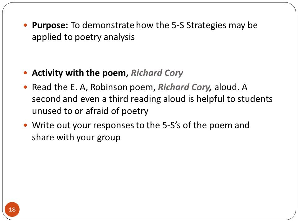 Poetry Analysis: Richard Cory by Robinson?