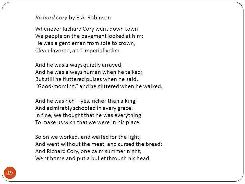 compare richard cory song and poem