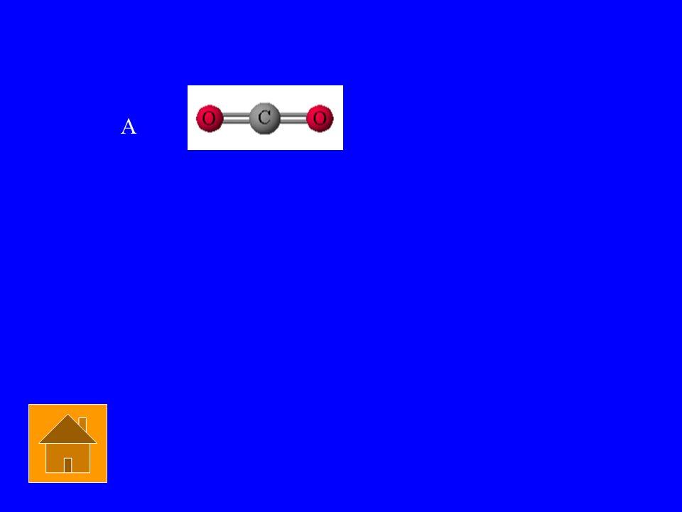 Q - Which is NOT linear? a) CO2 b) H2O c) BeF2 d) N2 Chem Bond $1500