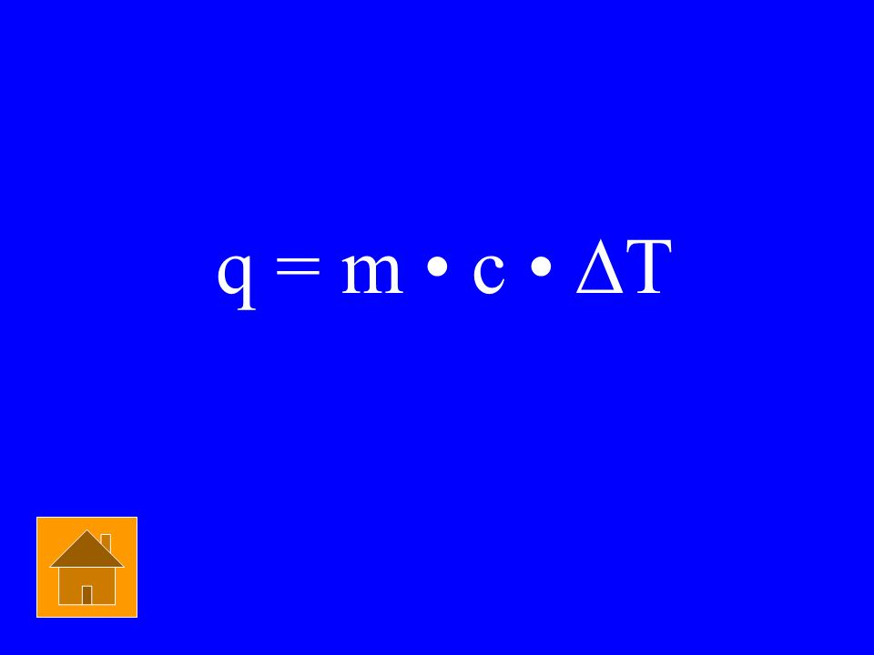 Physical Chemistry $1500 What equation would you use to solve: How much heat does it take to raise 10 grams of water by 10°C?...