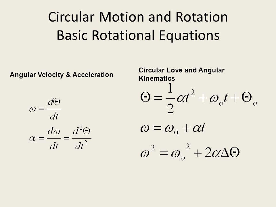 Equations Angular Velocity Angular Velocity Equation