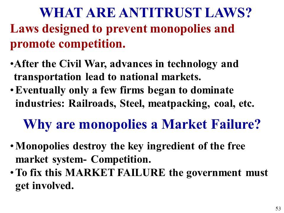 Government in Action: Antitrust Laws Legislative ExecutiveJudicial 52
