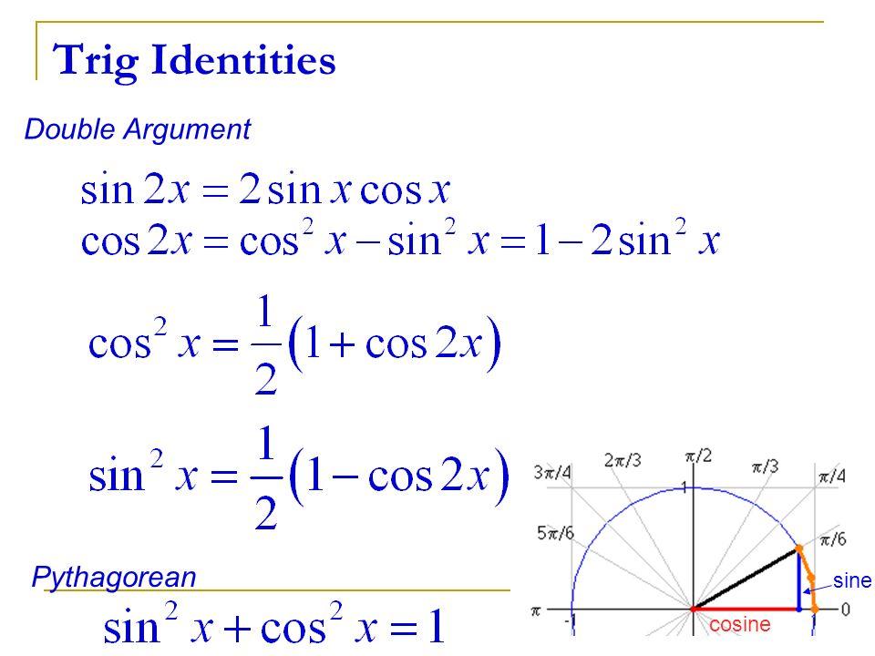 Double Argument Pythagorean sine cosine