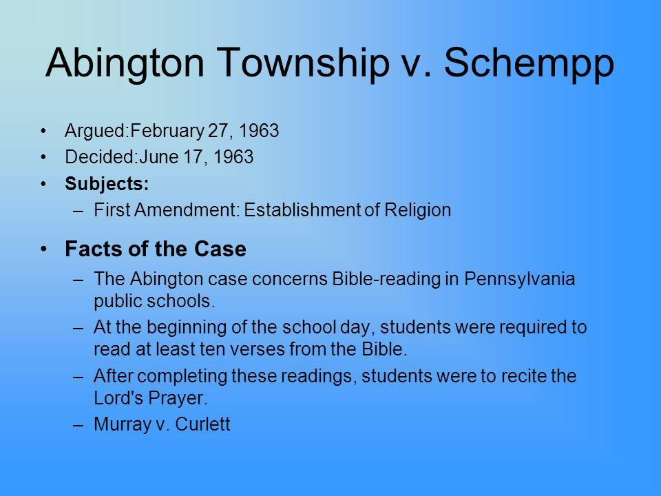 Abington Township v.