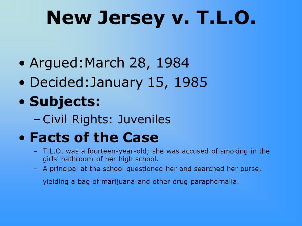 New Jersey v.T.L.O.