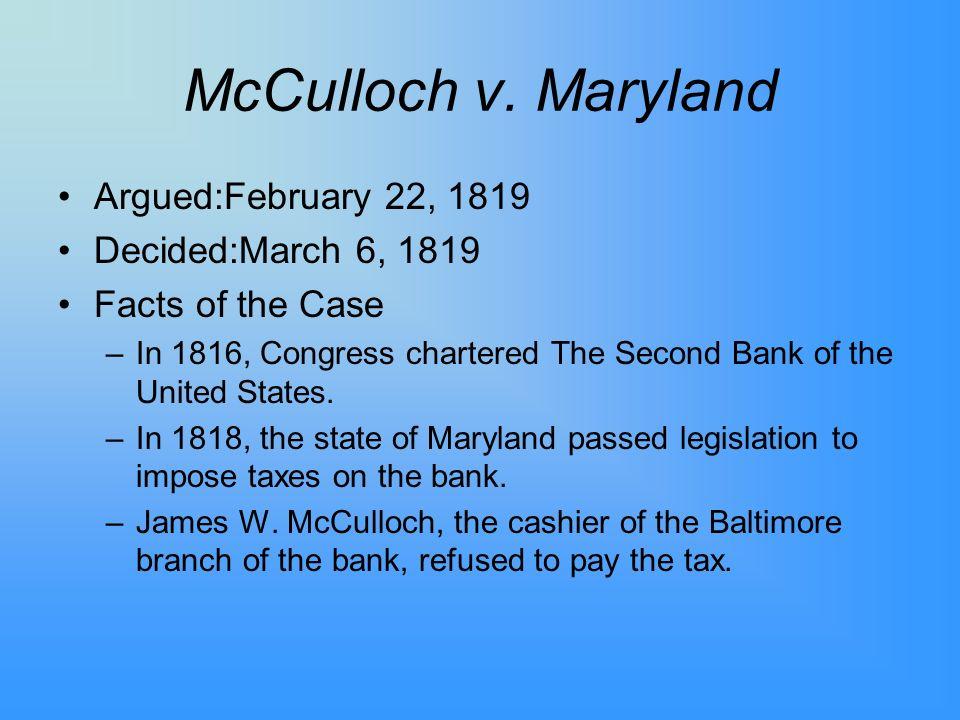 McCulloch v.