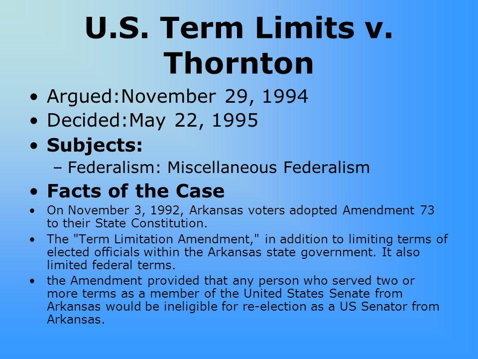U.S.Term Limits v.