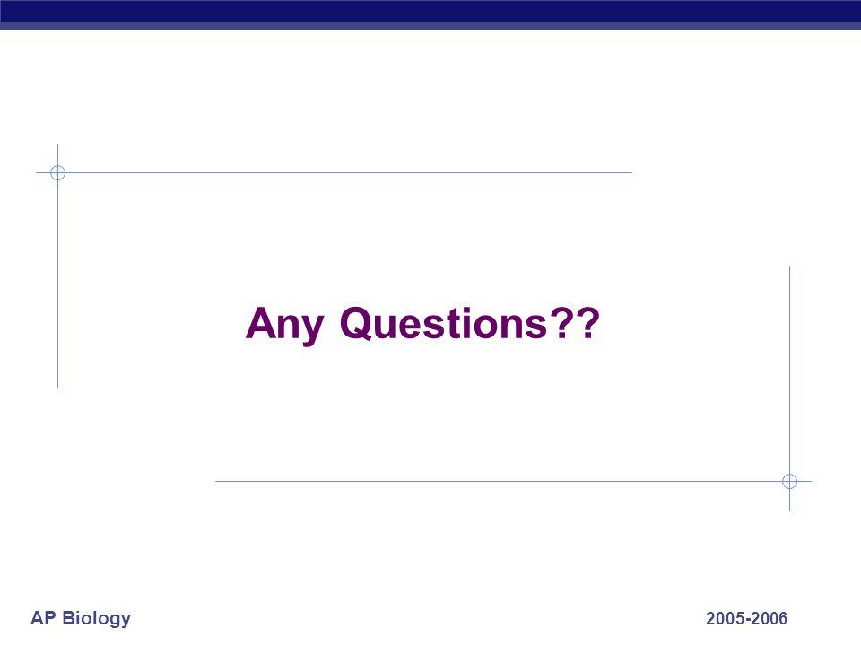 AP Biology 2005-2006 Any Questions??