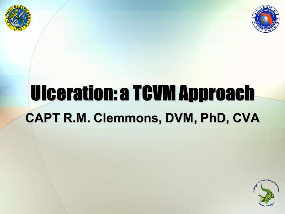 Ulceration: a TCVM Approach CAPT R.M. Clemmons, DVM, PhD, CVA
