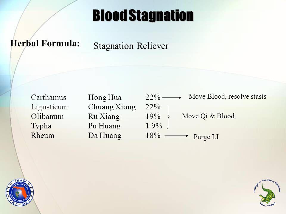 Carthamus Hong Hua 22% Ligusticum Chuang Xiong22% Olibanum Ru Xiang19% Typha Pu Huang1 9% Rheum Da Huang18% Stagnation Reliever Herbal Formula: Move B
