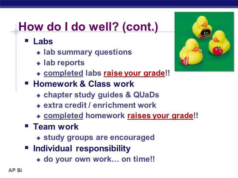 AP Biology How do I do well.
